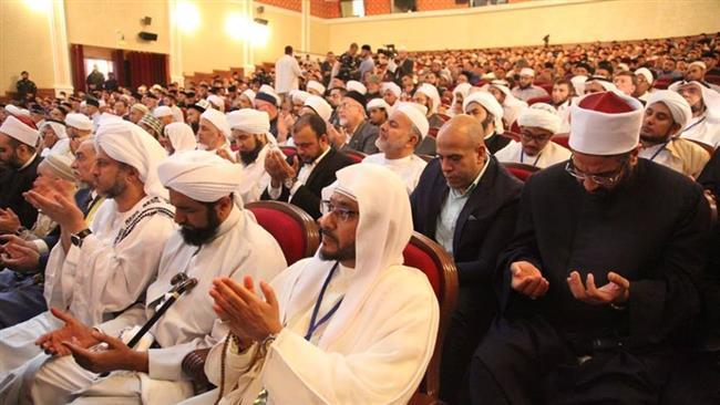 Muslim clerics in Grozny
