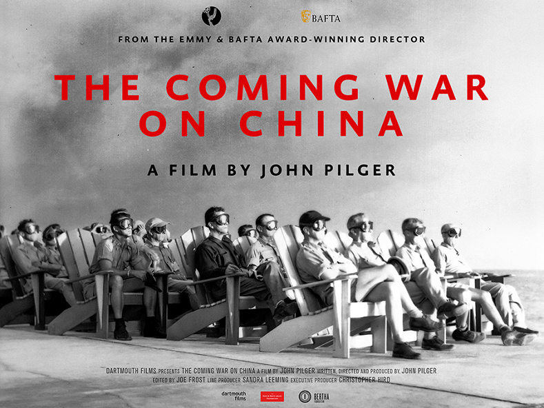 "A poster for the upcoming documentary ""The Coming War on China."""